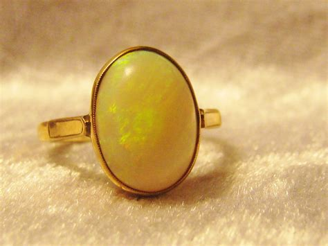 antique ct gold opal ring