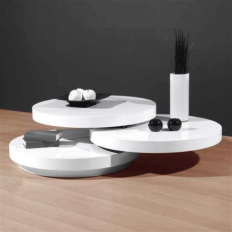 table basse ronde blanc laqu 233 table basse table pliante