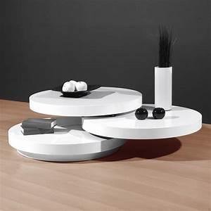 Table Laqué Blanc : table basse blanc laqu ronde table basse table pliante et table de cuisine ~ Teatrodelosmanantiales.com Idées de Décoration