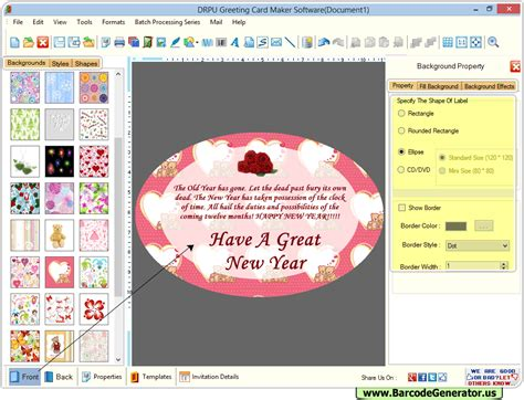 Greeting Card Maker Software Design Colorful Personalized