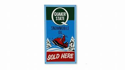 Quaker State Oil Snowmobile Sign Er Fill