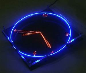 Spinning LED clock tells time