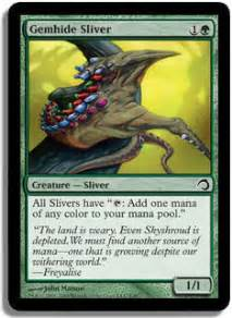 gemhide sliver foil premium deck slivers magic the gathering mtg single card abugames