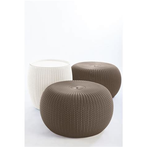 keter lounge chairs grey keter knit cozy harvest brown and oasis white 3