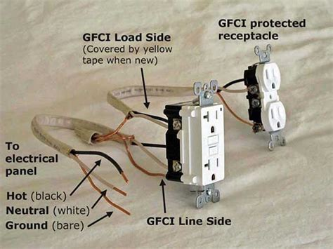 gfci load wiring electrical 101 gfci load wiring electrical 101