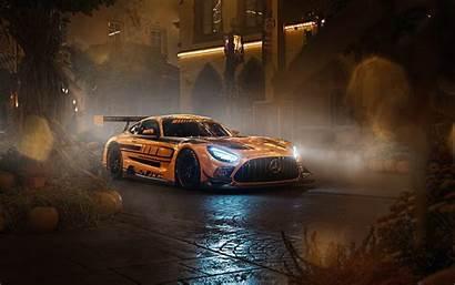 Mercedes Amg Gtr Supercars Night Gt Cars