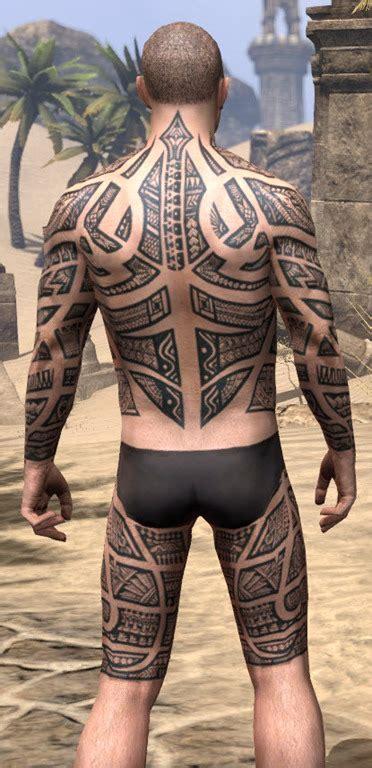 eso fashion stippled tattoo swirls elder scrolls