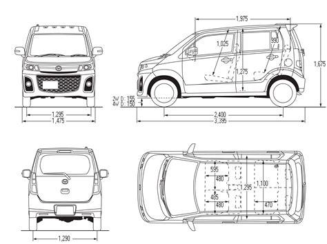 Mazda AZ-Wagon Blueprint - Download free blueprint for 3D ...