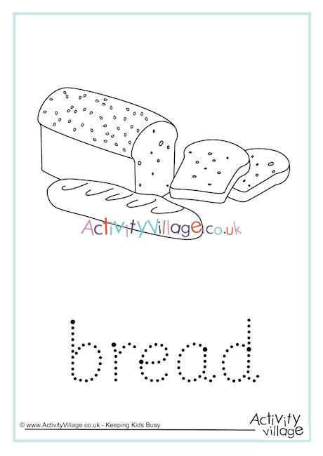 bread word tracing