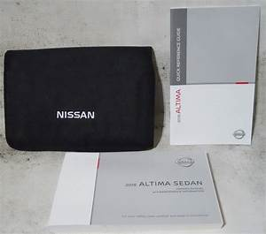 Nissan Altima Sedan 2018 Factory Original Oem Owner Manual