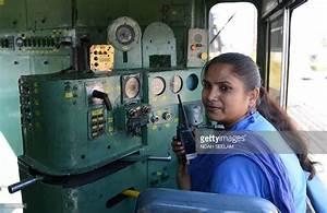 Indian Railways locomotive driver Lakshmi Devi talks on a ...