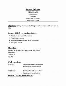 resume With hockey player resume template