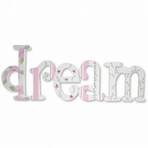 dream in pink whimsical letters With dream wall letters