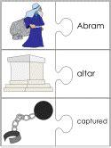 abram  lot jigsaw word match worksheets