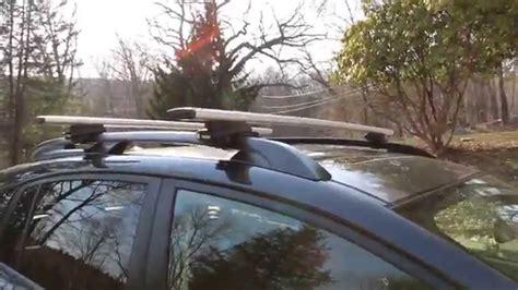 thule roof rack installation thule aero blade roof rack install on 2014 subaru