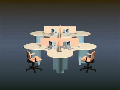 Office workstation furniture 3d model 3D Studio,3ds max