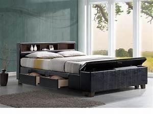 Boxspringbett Ikea 160x200 : lit et sommier de rangement ~ Watch28wear.com Haus und Dekorationen