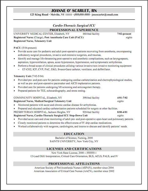 20194 exle of resume for nurses cicu registered resume wade resume