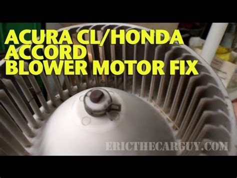 fixing  noisy blower motor ericthecarguy youtube