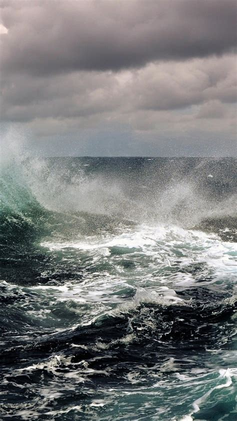 ocean clouds waves storm skyscapes sea wallpaper