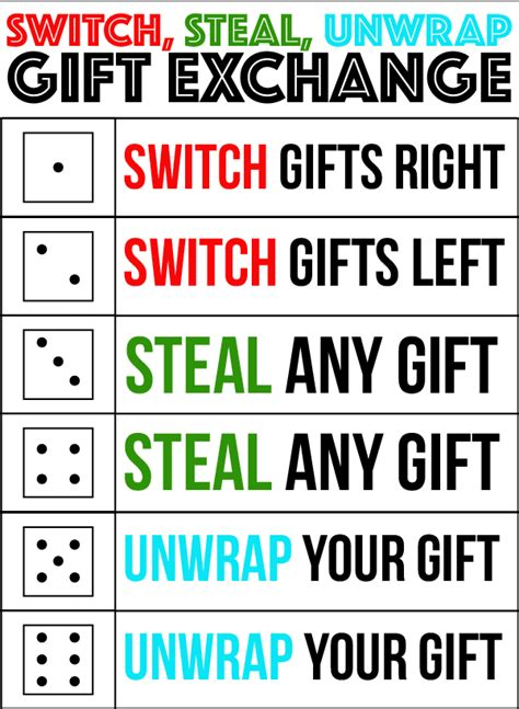 the best gift exchange switch or unwrap