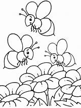 Bee Coloring Honey Pages Bees Printable Print Getcolorings Colorings sketch template