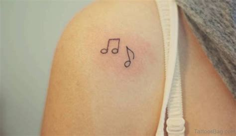 musical note tattoo designs  shoulder