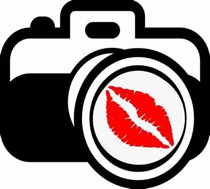 Camera Kiss Clipart Funny Clip Drawing Dslr