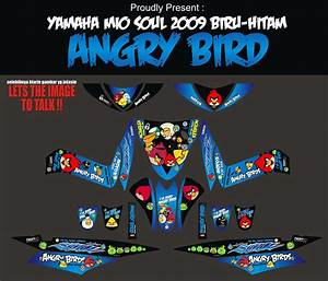 Striping Motor Mio Soul Angry Bird