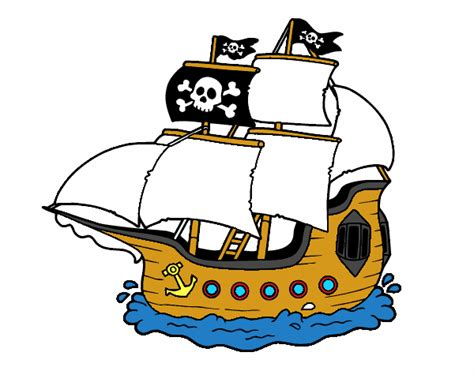 Dibujo Barco Pirata Infantil by Dibujo De Barco Pirata Pintado Por En Dibujos Net El D 237 A