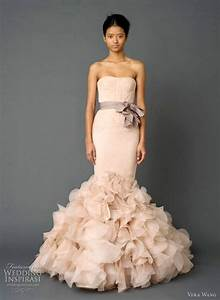 dusty rose wedding dress by vera wang favethingcom With dusty rose wedding dress