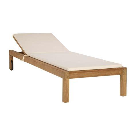 chaise longue teck tiek teak chaise longue habitat