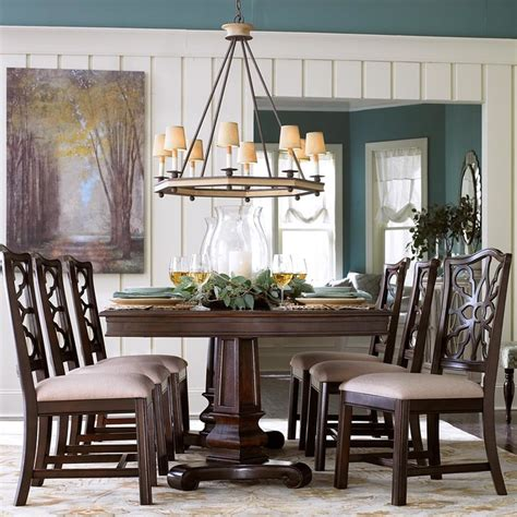 moultrie park pedestal dining table by bassett