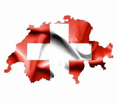 Suisse Drapeau Swiss Waving Flag Carte Isolement
