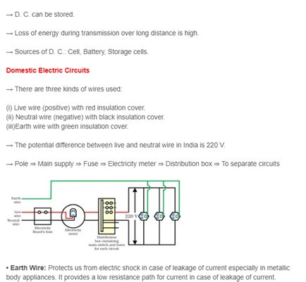 cbse class 10 revision notes science chapter 13 magnetic effects of electric current
