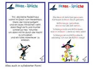 unterrichtsmaterial übungsblätter für die grundschule lesen mit spaß hexensprüche und - Sprüche Lesen