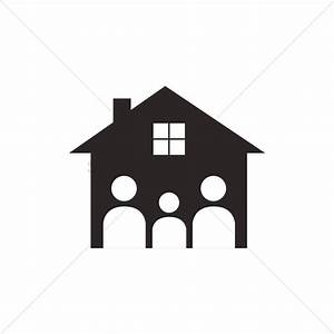 Family house logo Vector Image - 1270195 | StockUnlimited