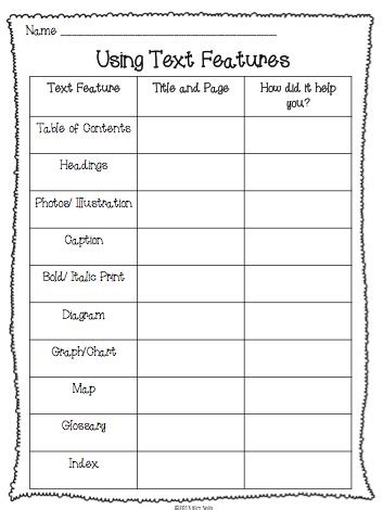 non fiction text features study plus a few freebies elementary antics