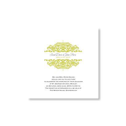 refined reflection day invitation wedding invitations