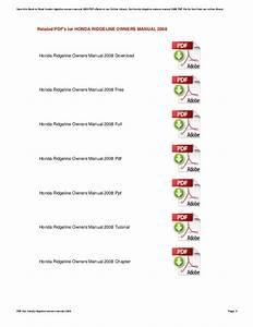 Honda Ridgeline Service Manual Pdf