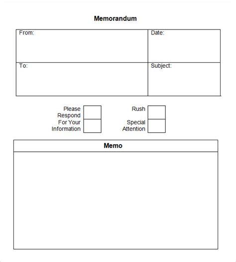 Memo To File Template by 7 Company Memo Templates Sle Templates