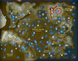 All Of The Shrine Locations In Zelda Breath Of The Wild