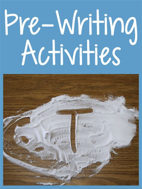 pre writing activities prekinders