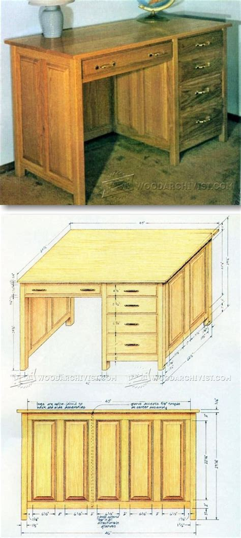 ideas  desk plans  pinterest woodworking desk plans build  desk   shanty