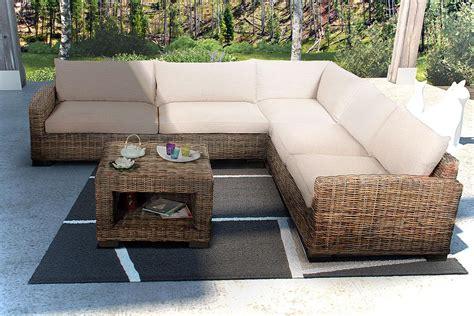 canapé grande taille salon d 39 angle en rotin canapé d 39 angle en rotin et table