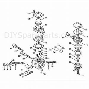 Stihl Fs 110 Brushcutter  Fs110  Parts Diagram  Carburetor