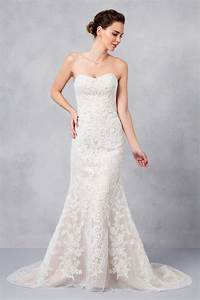 oleg cassini strapless lace sheath plus size wedding dress With plus size sheath wedding dress