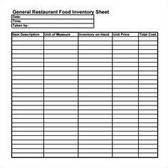 sample restaurant inventory  documents