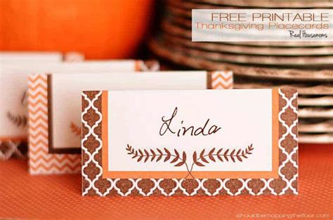 printable thanksgiving placecards real housemoms