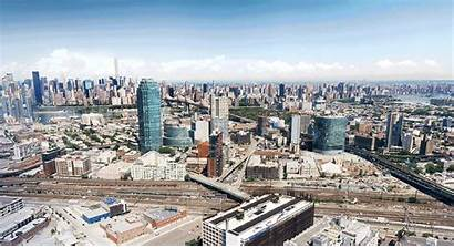Island Queens Skyline Urban Towers Silhouette Rundown
